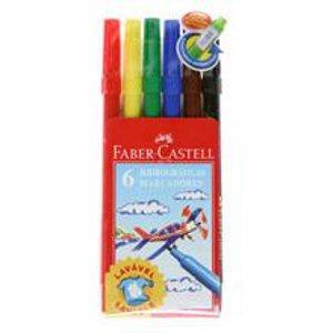 Canetinha hidrocor 6 cores ponta fina Faber Castell