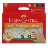 Pintura a dedo Faber Castell (6x25ml.)