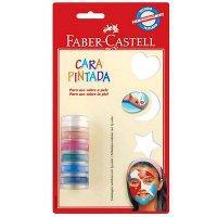 Pintura facial em pasta 6 cores Faber Castell