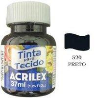 Tinta para tecido preta Acrilex 37ml.