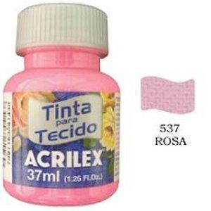 Tinta para tecido rosa Acrilex 37ml.