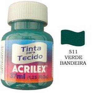 Tinta para tecido verde bandeira Acrilex 37ml.