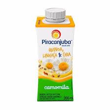 Bebida lactea quinoa, linhaça e chia sabor camomila Piracanjuba 200ml.