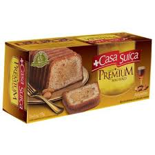 Bolo coberto sabor amêndoas Casa Suíça 330g.