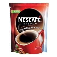 Café solúvel Nescafé Tradição Forte sachê 50g.
