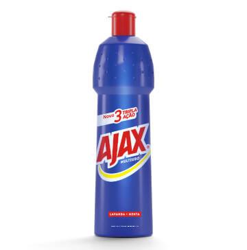 Limpador multiuso tripla ação lavanda + menta Ajax 500ml