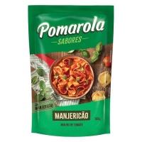 Molho de tomate com manjericão Pomarola sachê 300g.