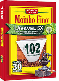Filtro de papel 102 (lavável) Moinho Fino 30x1