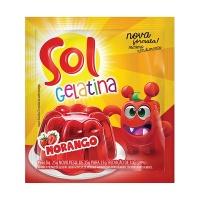 Gelatina Sol morango 25g.