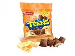 Biscoito de chocolate recheado c/ baunilha Teens Marilan 40g.
