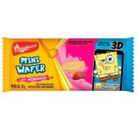 Mini wafer morango Bauduco 30g