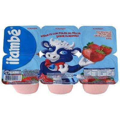 Iogurte Itambé morango  6x90g