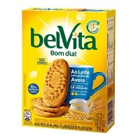 Biscoito Belvita ao leite com grãos de aveia 75g.
