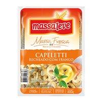 Massa fresca Capeletti recheio de frango Massa Leve 400g.