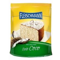 Mistura para bolo de coco Fleischmann 450g.