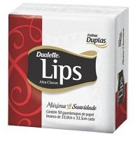 Guardanapo de papel Dualette Lips folha grande dupla 33x33,5cm (50 unid.)