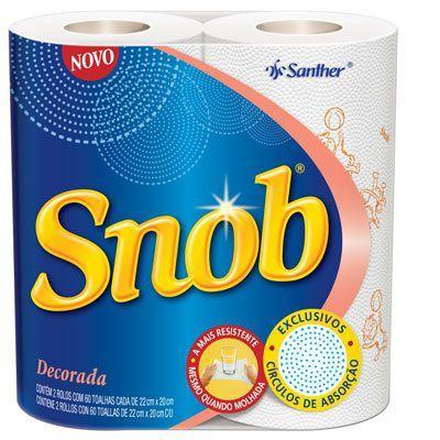 Papel toalha DECORADO Snob 02 rolos 22x20 cm