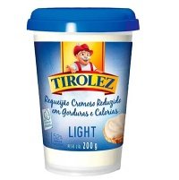 Requeijão cremoso light Tirolez 200g.