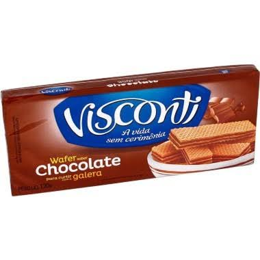 Biscoito wafer chocolate Visconti 140g.