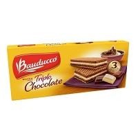 Wafer triplo chocolate Bauducco 140g.