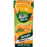 Suco pronto de laranja Nutri Néctar 200ml.