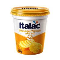 Manteiga  com sal Italac pote 500g