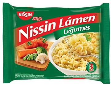 Macarrão instantâneo legumes Nissin 85g.