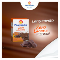 Bebida láctea zero lactose sabor chocolate Piracanjuba 200ml