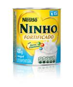 Leite em pó  Ninho integral Nestlé 400g.