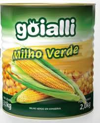 Milho verde em conserva lata Goialli 200g