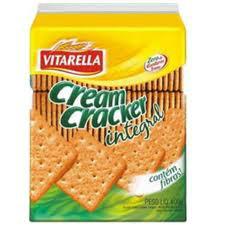 Biscoito cream cracker integral Vitarella 400g