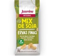 Salgadinho crocante descascado de grãos soja sabor ervas finas Soytoast Jasmine 40g