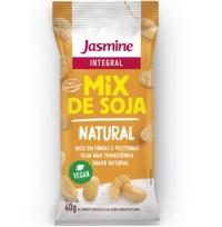 Salgadinho crocante descascado de grãos soja natural  Soytoast Jasmine 40g