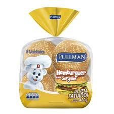 Pão hambúrguer c/ gergelim Pullman (4x1) 200g