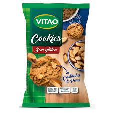 Cookies castanha do Pará c/ farinha de soja e arroz Vitao 150g