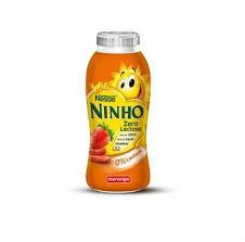 Iogurte líquido morango zero lactose Ninho Nestlé 170ml