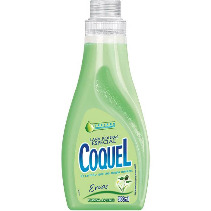 Lava roupas líquido ervas Coquel 500ml