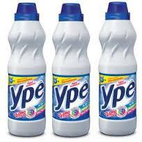 Água sanitária com cloro ativo Ypê 1lt (pacote c/ 3 unid.)