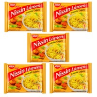 Macarrão instantâneo galinha caipira Nissin 85g.(pacote c/ 5 unid.)