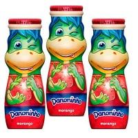 Iogurte líquido sabor morango Danoninho 100ml (pacote 3/ unid.)