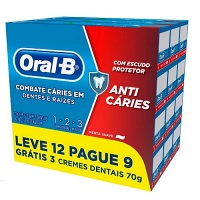 Creme dental anti caries Oral B 123 70g (pacote c/12 unid.)