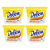 Margarina cremosa com sal Delícia 500g.(pacote c/4 unid.)