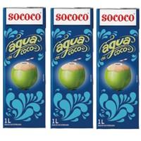 Água de coco Sococo 1lt (pacote c/3 unid.)