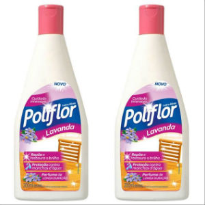 Lustra móveis Poliflor lavanda 200ml. (pacote c/2 unid.)