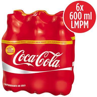 Coca Cola pet 600 ml. (pacote c/6 unid.)