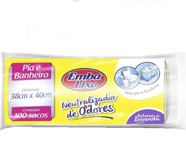 Saco para lixo de pia e banheiro neutralizador de odores Embalixo 100x1