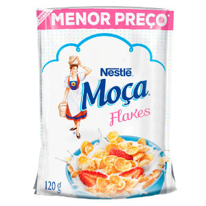 Cereal matinal sachê Moça Flakes Nestlé 120g