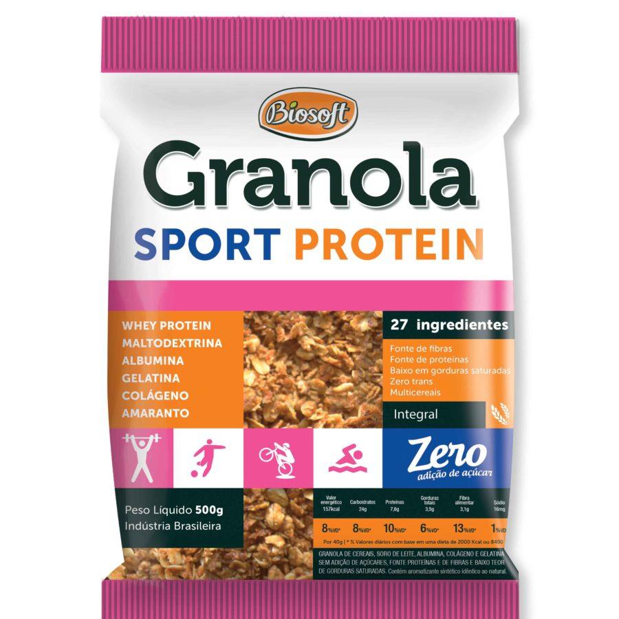 Granola sport protein zero Biosoft 500g