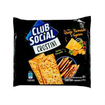 Biscoito crostini queijo original Club Social 4x20g