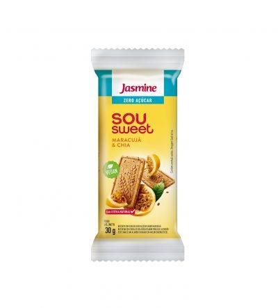 Biscoito Sou Sweet Maracujá e chia zero açucar Jasmine 90g